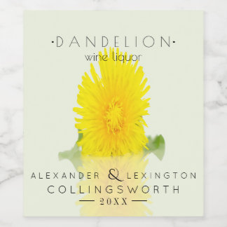 Dandelion Wine Liquor Wine Label