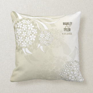 Dandelion Wishes Floral Throw Pillow