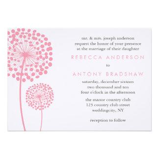 Dandelion Wishes Wedding Invitation