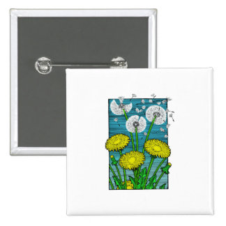 Dandelions 2 Inch Square Button