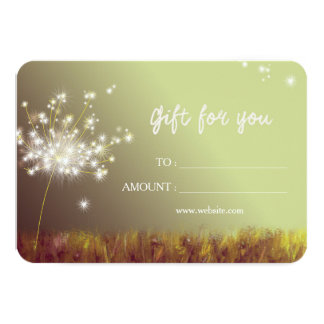Dandelions Business Gift Certificate Card