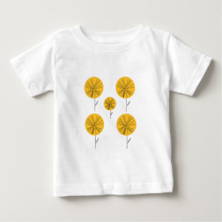 Dandelions gold on white baby T-Shirt