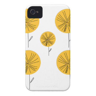 Dandelions gold on white iPhone 4 cover