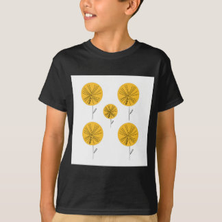 Dandelions gold on white T-Shirt