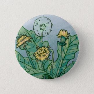 Dandelions  Illustration 2 Inch Round Button