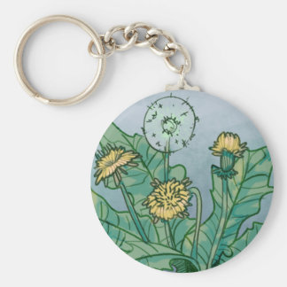 Dandelions  Illustration Keychain