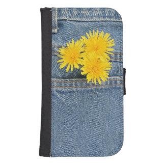 Dandelions in a pocket phone wallet cases