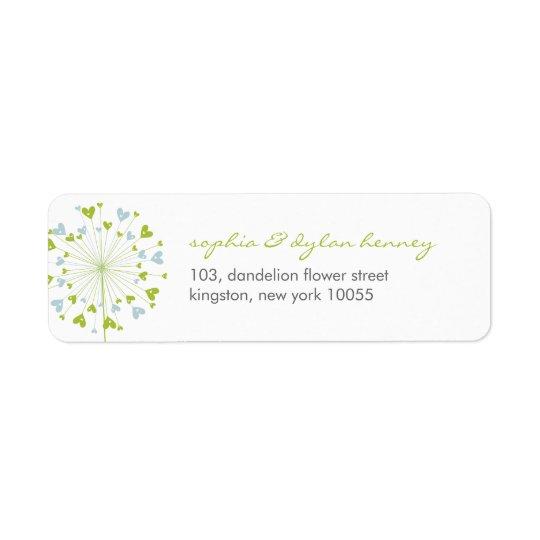 Dandelions Love Cute Summer Wedding Address Labels