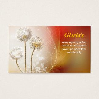 dandelions magic colorful business card