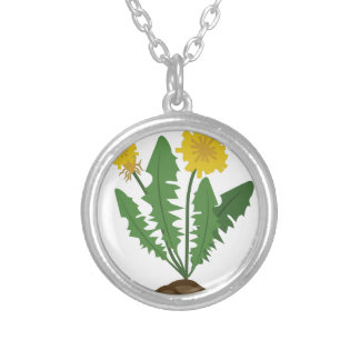 Dandelions Silver Plated Necklace