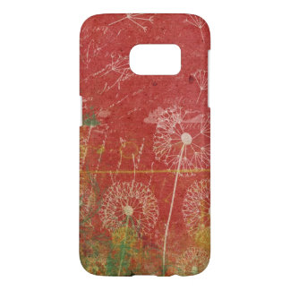 Dandelions Take Wind Against Pink Sky Abstract Samsung Galaxy S7 Case