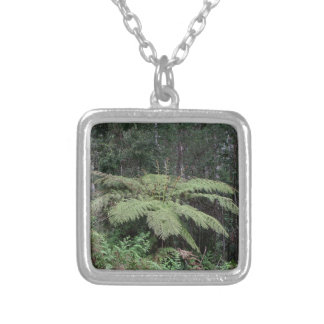 Dandenong Ranges Rainforest, Victoria, Australia 2 Silver Plated Necklace