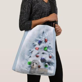 Dandie Dinmont Terrier Christmas Crossbody Bag