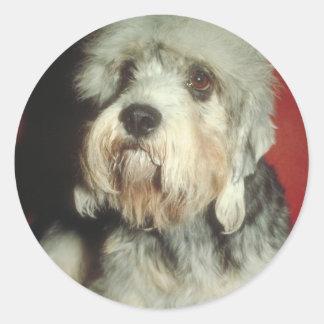 Dandie Dinmont Terrier Classic Round Sticker