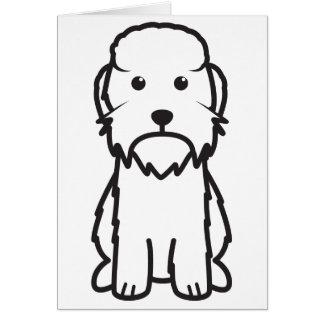 Dandie Dinmont Terrier Dog Cartoon Card