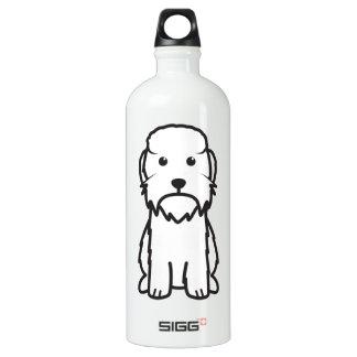 Dandie Dinmont Terrier Dog Cartoon Water Bottle