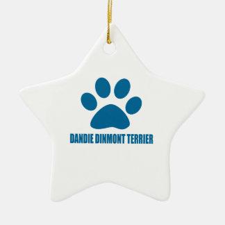 DANDIE DINMONT TERRIER DOG DESIGNS CERAMIC ORNAMENT