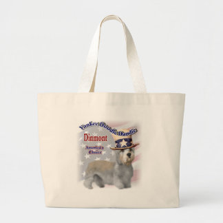 Dandie Dinmont Terrier Gifts Large Tote Bag