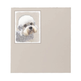 Dandie Dinmont Terrier Painting Original Dog Art Notepad