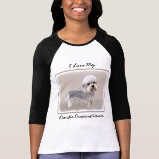 Dandie Dinmont Terrier Painting Original Dog Art T-Shirt