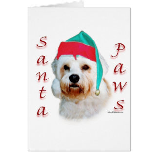 Dandie Dinmont Terrier Santa Paws Card