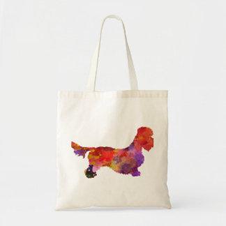 Dandie Dinmont to terrier in watercolor 2 Tote Bag