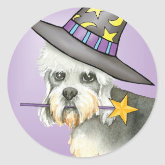 Dandie Witch Classic Round Sticker