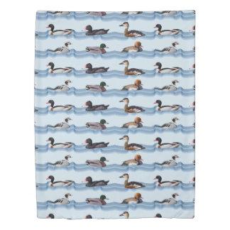 Dandy Ducks Duvet Cover (Light Blue/Navy)