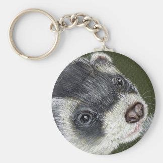 Dandy Ferret Basic Round Button Keychain