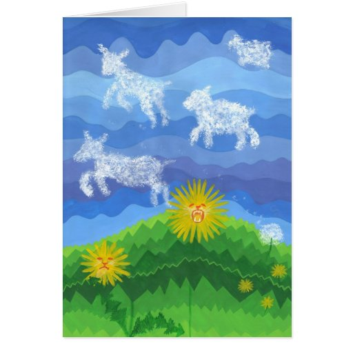 Dandy Lions and Lambs Greeting Cards