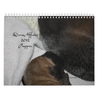 Dane Affaire - 2012 Puppies Wall Calendars