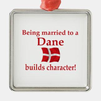 Dane Builds Character Metal Ornament