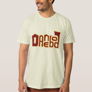 Danebod Melty Logo - Maroon/Gold T-Shirt