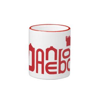 Danebod Red Logo Ringer Coffee Mug