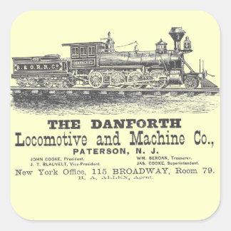 Danforth Locomotive and Machine Company 1852 Square Sticker