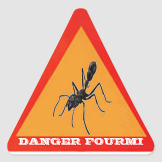 DANGER ANT TRIANGLE STICKER