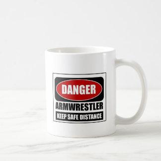 Danger Armwrestler Classic White Coffee Mug