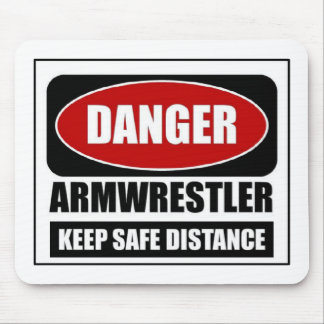 Danger Armwrestler Mouse Pad
