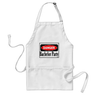 Danger Bachelor Party Apron