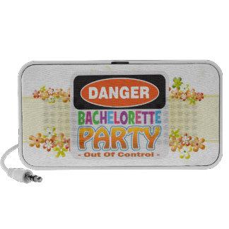 Danger bachelorette party funny bridal party speaker