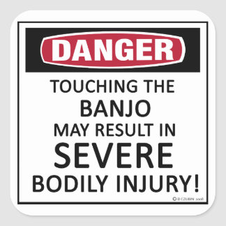 Danger Banjo Square Sticker