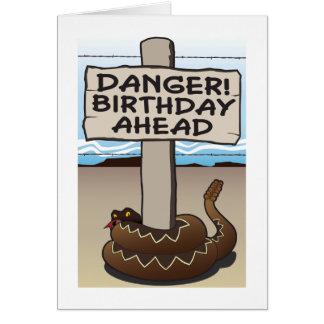 Danger Birthday Ahead Humorous Birthday Card