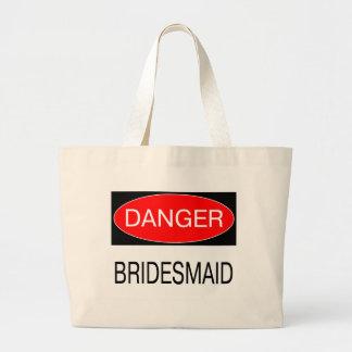 Danger - Bridesmaid Funny Wedding T-Shirt Mug Hat Tote Bag