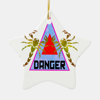 Danger Ceramic Ornament