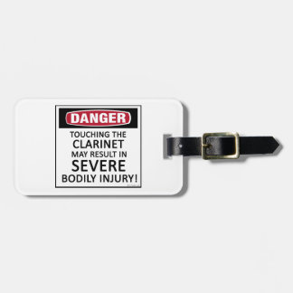 Danger Clarinet Luggage Tag
