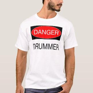 Danger - Drummer Funny Musician T-Shirt Mug Apron