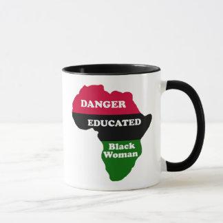 DANGER - Educated Black Woman Mug