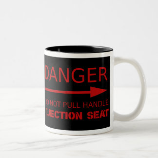 Danger Ejection seat Two-Tone Coffee Mug