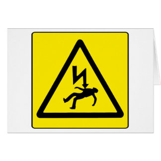 Danger Electricity Card