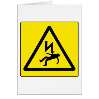 Danger Electricity Card